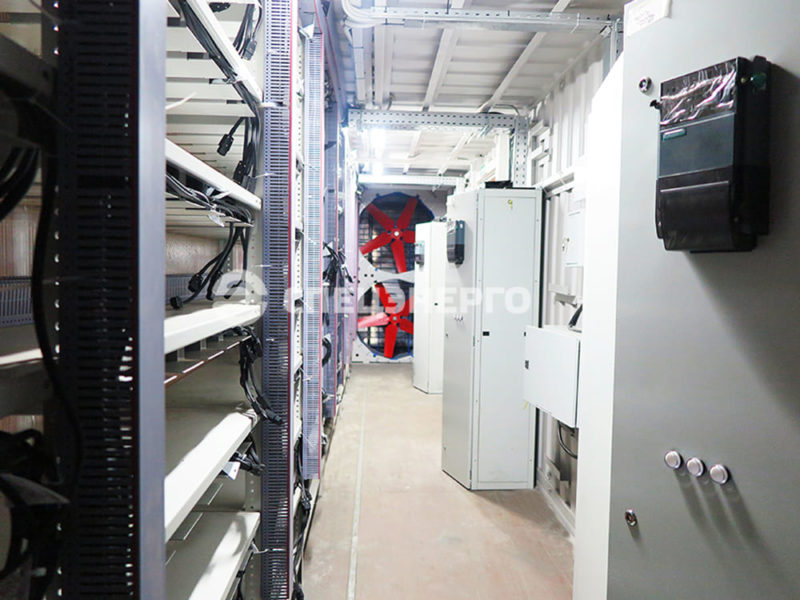 контейнер для майнинга внутри